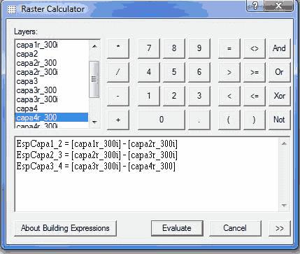calculadora raster de arcgis
