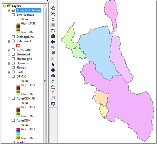 Adjoint Catchment Processing