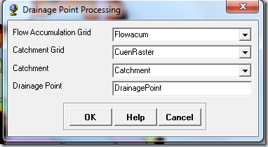 Ventana Drainage Point Processing