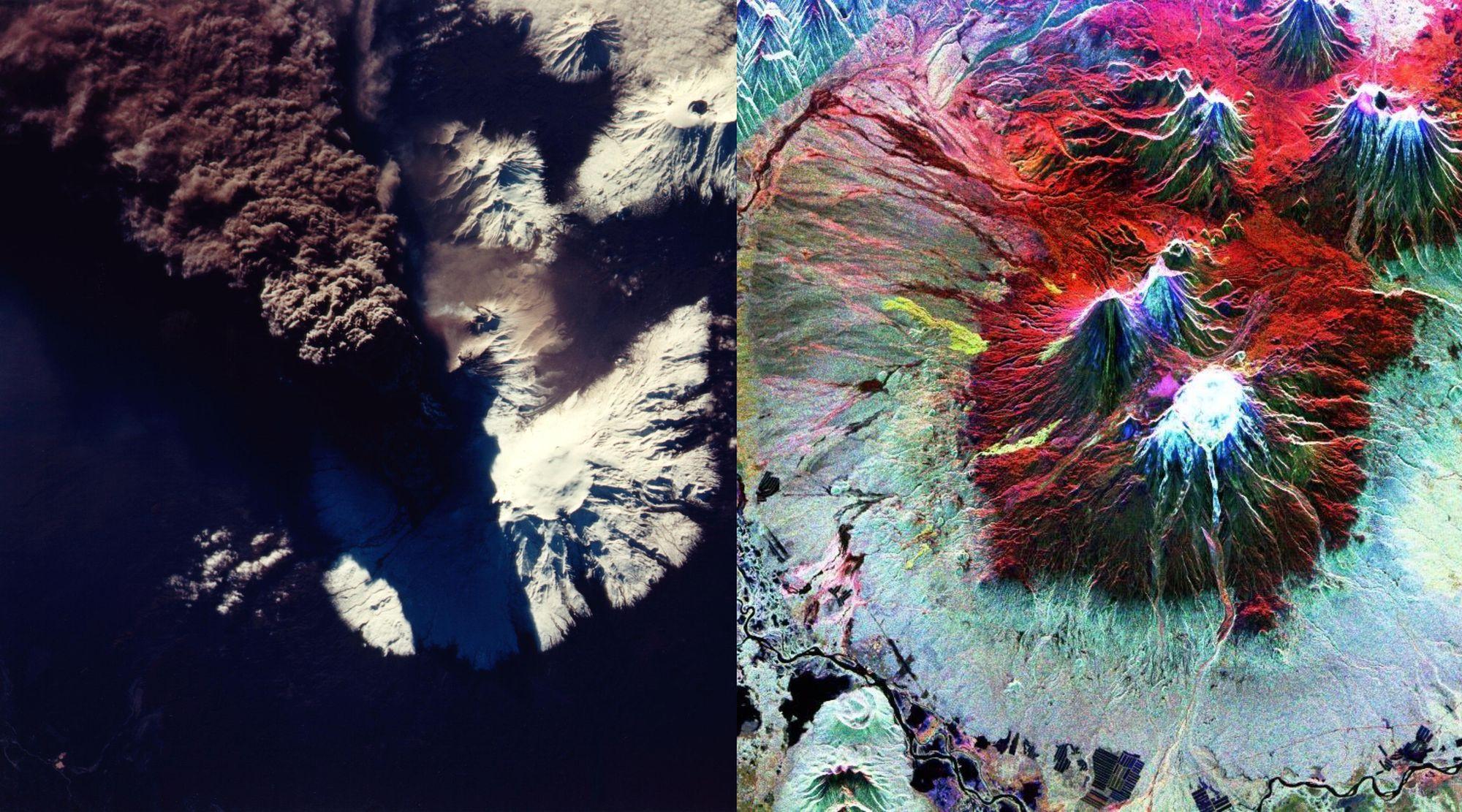 volcán kliuchevskoi en Kamchatka